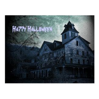 Postal fantasmal de Halloween del estado