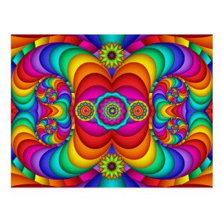 Postal feliz colorida del cumpleaños del Hippie