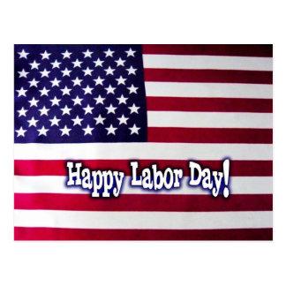 Postal feliz de la bandera americana del Día del