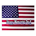Postal feliz de la bandera americana del Memorial