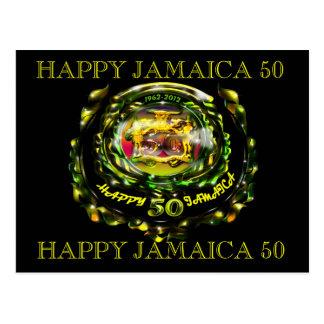 Postal feliz de la celebración de Jamaica 50