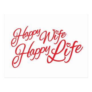 Postal feliz de la cita de la vida de la esposa fe