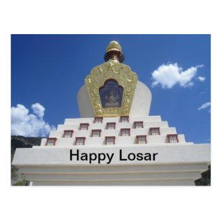 Postal feliz de Losar Stupa