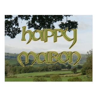 Postal feliz de Mabon