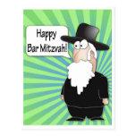 Postal feliz de Mitzvah de la barra