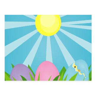 Postal feliz de Pascua de la mañana de Pascua