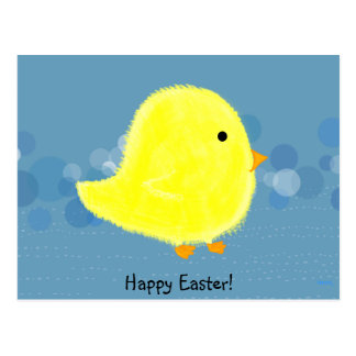 Postal feliz de Pascua del polluelo del bebé/posta