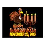 Postal feliz de Thanksgivukkah