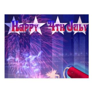 Postal feliz del 4 de julio