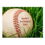 Postal feliz del béisbol del día de padre