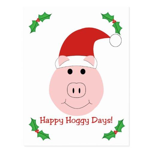 Postal feliz del día de fiesta de los días de Hogg