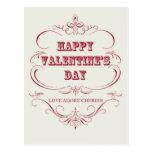Postal feliz del el día de San Valentín del vintag