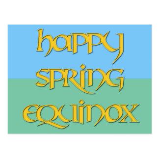 Postal feliz del equinoccio de primavera