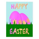 Postal feliz del huevo de Pascua