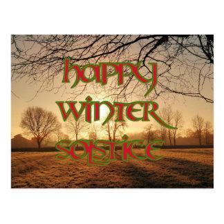 Postal feliz del solsticio de invierno: Invierno