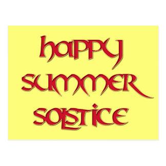 Postal feliz del solsticio de verano