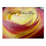 Postal feliz floral suave bonita del día de madres