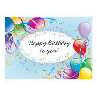 Postal festiva de los saludos del cumpleaños
