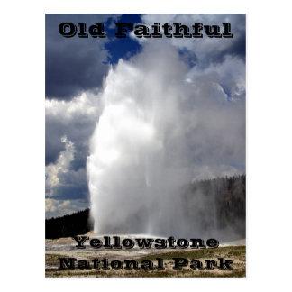 Postal fiel vieja de Yellowstone