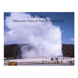 Postal fiel vieja del parque nacional de Yellowsto