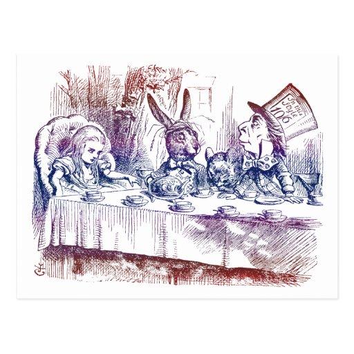 Postal: Fiesta del té enojada del sombrerero