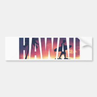 Postal filtrada vintage de Hawaii Pegatina Para Auto