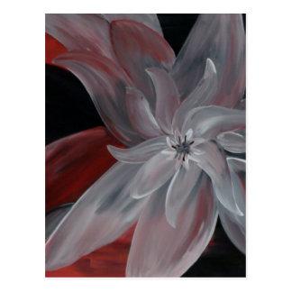 Postal floral abstracta