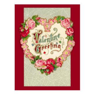 Postal floral de la tarjeta del día de San Valentí