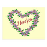 Postal floral del amor