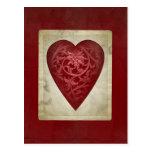 Postal floral del corazón de la tarjeta del día de