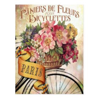 Postal floral francesa del vintage