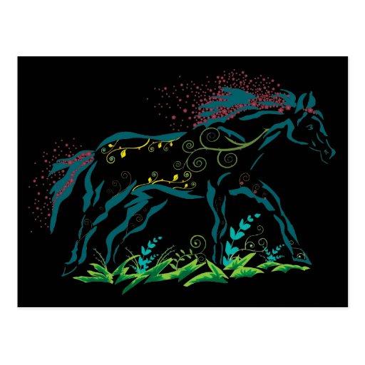 Postal florida del caballo