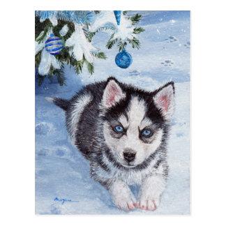 Postal fornida de Navidad del perrito del perro de