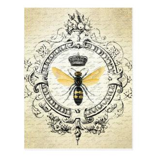 Postal francesa de la abeja del vintage