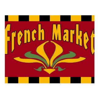 Postal francesa de la muestra del mercado