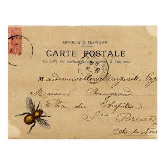 Postal francesa de las Ephemeras del vintage