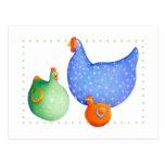 Postal francesa de las gallinas