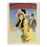 Postal francesa del poster del vintage de la época