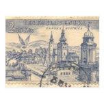 Postal: Franqueo checoslovaco cancelado