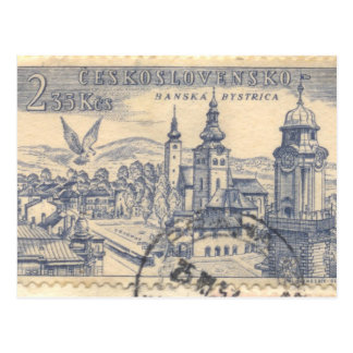 Postal: Franqueo checoslovaco cancelado Tarjeta Postal