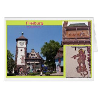 Postal Freiburg Tarjeta De Felicitación