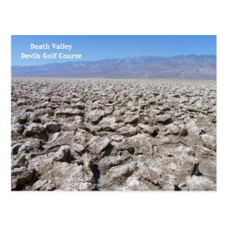 ¡Postal fresca de Death Valley! Postales
