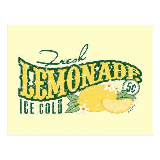 Postal fresca de la limonada