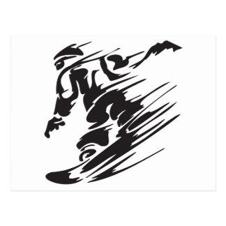 Postal fresca de la montaña de la snowboard de la