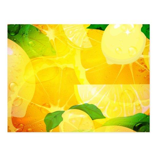 Postal fresca de los limones
