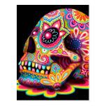 Postal fresca del arte del cráneo del azúcar - día