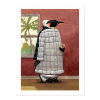 Postal fresca del pingüino