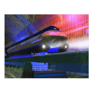 Postal futura del tren
