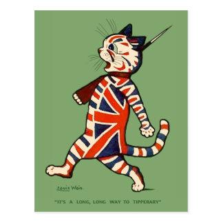 Postal Gato patriótico