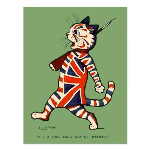 Postal: Gato patriótico